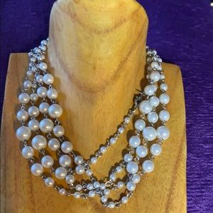 Long pearl like necklace